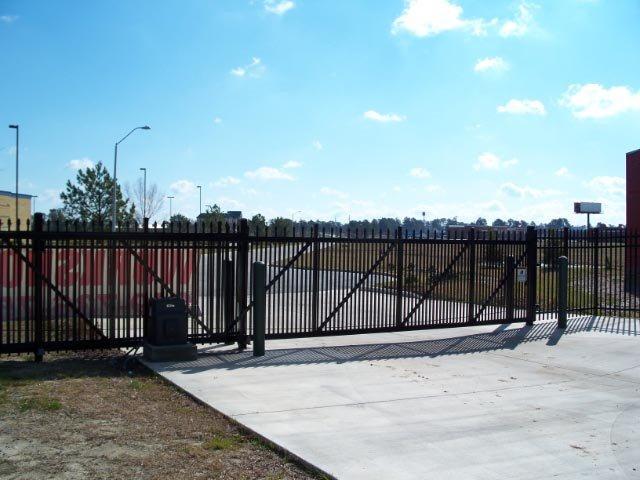 Aluminum sliding gate installation with Elite gate operator.