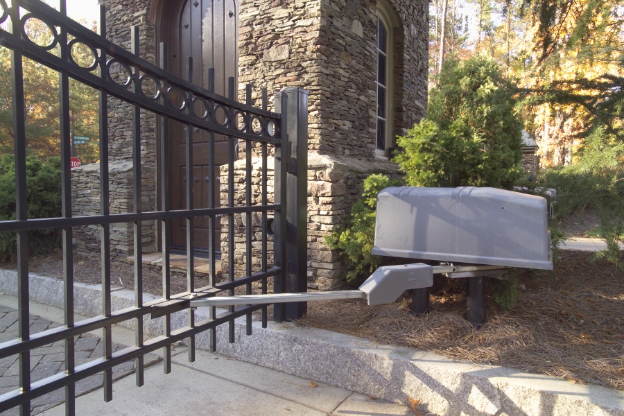 Residential security gate operator installation by Secure Access Services Raleigh NC