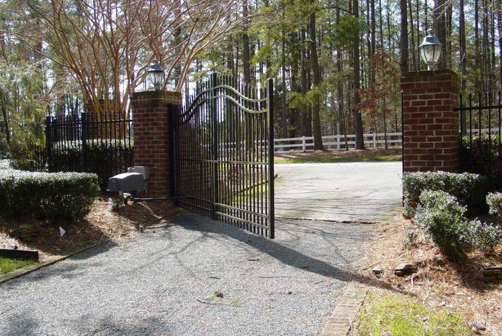 secure-access-services-single-swing-gate-residential-raleigh-nc